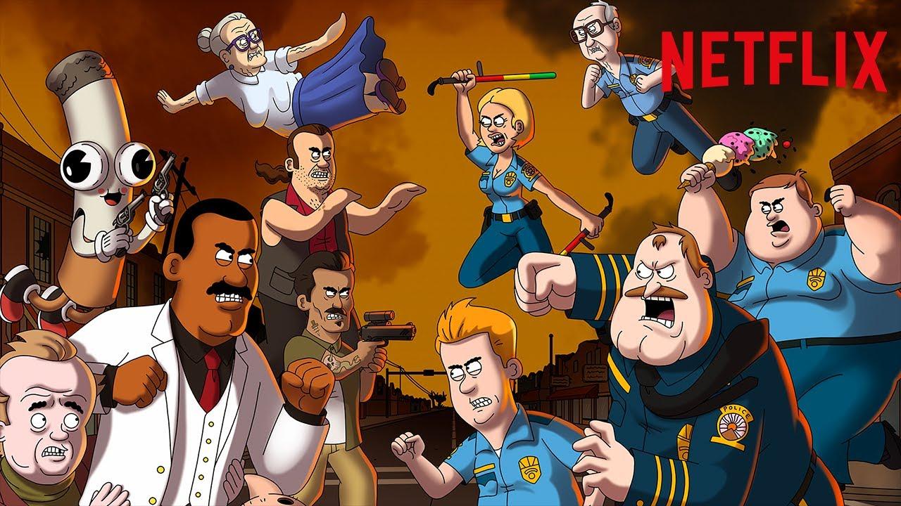 Paradise Police Saison 2 Série d'animation Netflix